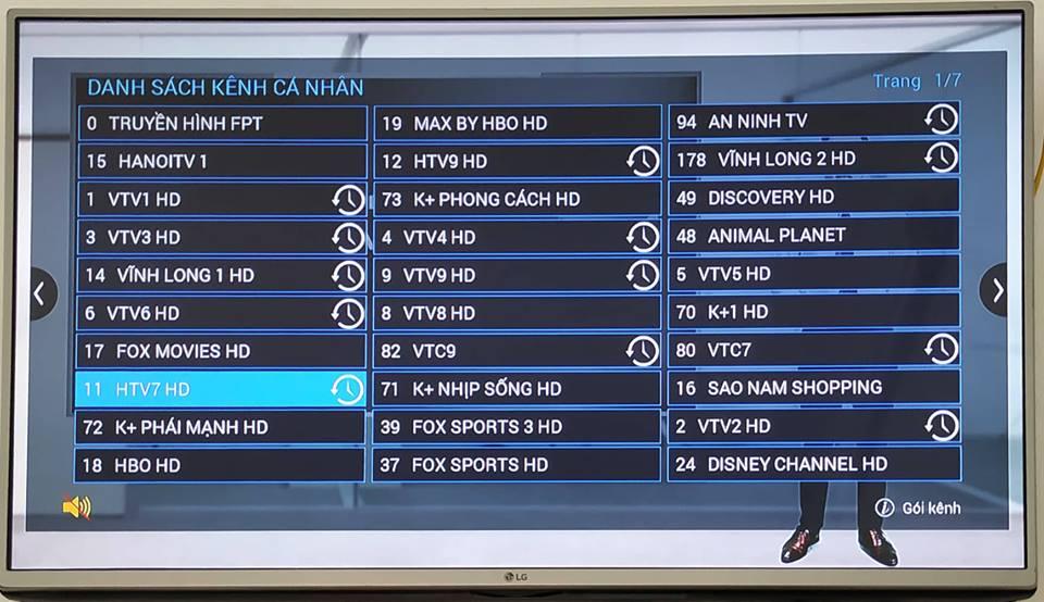 Danh sách kênh