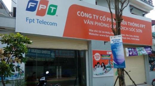 Mặt trước văn phòng giao dịch FPT Sóc Sơn