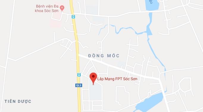 Địa chỉ FPT Sóc Sơn trên Googlemaps