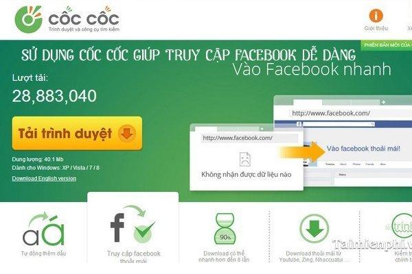 Dung Cốc Cốc đăng nhập Facebook