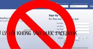Lỗi Không Vào Được Facebook